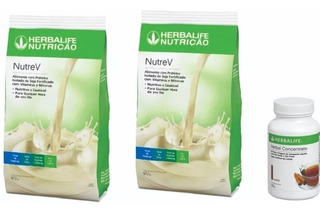Kit Herbalife 02 Nutrev + Cha Herbal Concentrate 100g