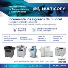 Alquiler Y Venta De Fotocopiadoras Y Multifunciones Z/oeste