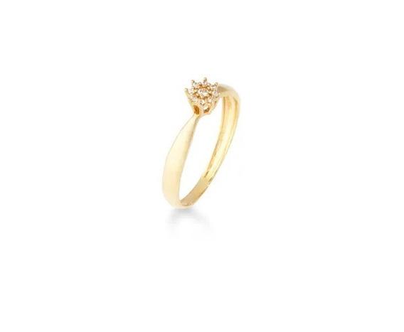 Anel De Ouro 18k/750 Chuveirinho De Diamantes Naturais Vivar
