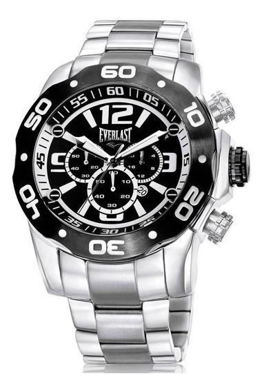 Relógio Everlast Masculino E548 Prateado Cronógrafo