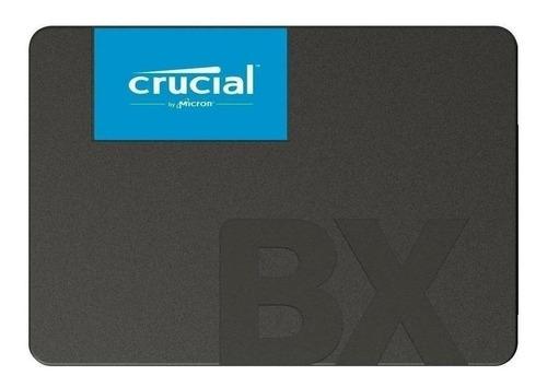 Imagen 1 de 2 de Disco sólido SSD interno Crucial CT240BX500SSD1 240GB negro