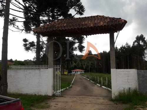 Chácara 4.000m², 02 Casas, Tanque De Peixe, Em Campestrinho - Mandirituba/pr. - Cha007 - 68995278