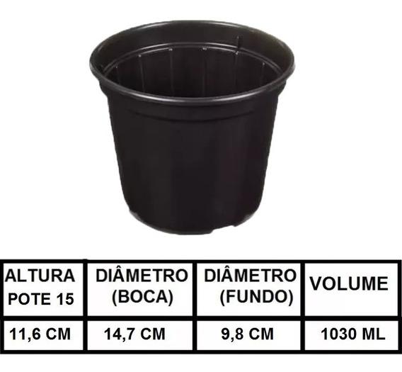 200 Vasos Plástico Pote 15 Mudas 1 Litro