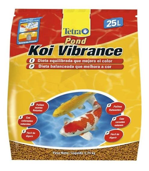 Ração Tetra Koi Vibrance 3,75kg 25l Estimula A Cor Carpas
