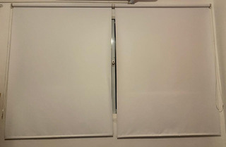 Cortinas Roller Black Out Blanca