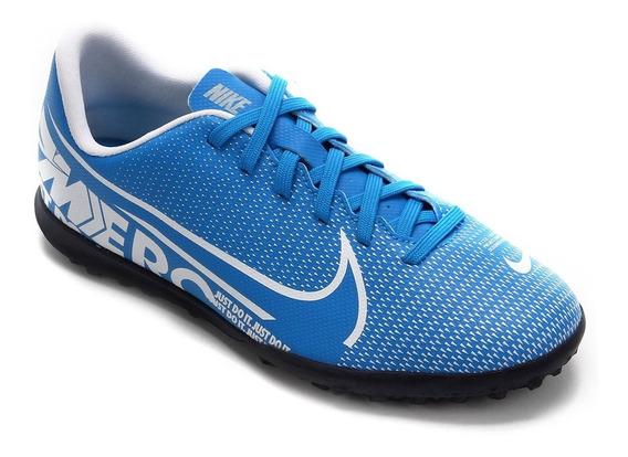 Chuteira Society Nike Mercurial Vapor 13 Club Tf - Azul
