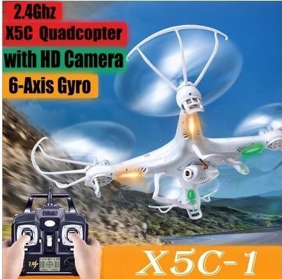 Drone Syma X5c-1, Câmera Hd, 2mp, 5 Bat. 2 Mot. Res.