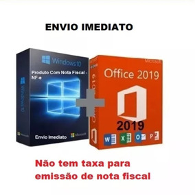 Windows 10 Pro Office 2019 Pro Chave Licença Download C/nfe