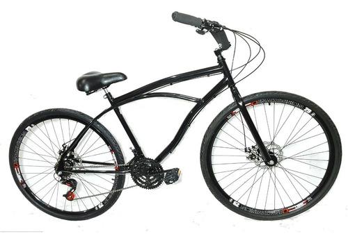 Imagem 1 de 2 de Bicicleta Aro 29 Vintage Retrô Beach Caiçara Praiana 21 V , Conforto E Performance, Cubos Em Alumínio Com Rolamento