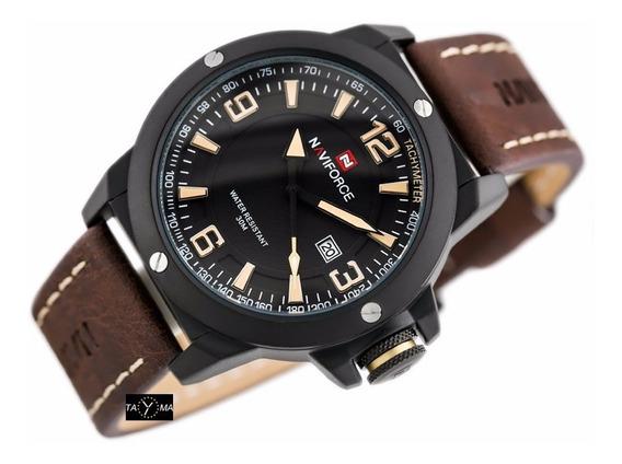 Relógio Masculino Original Naviforce Couro Frete Grátis Top!