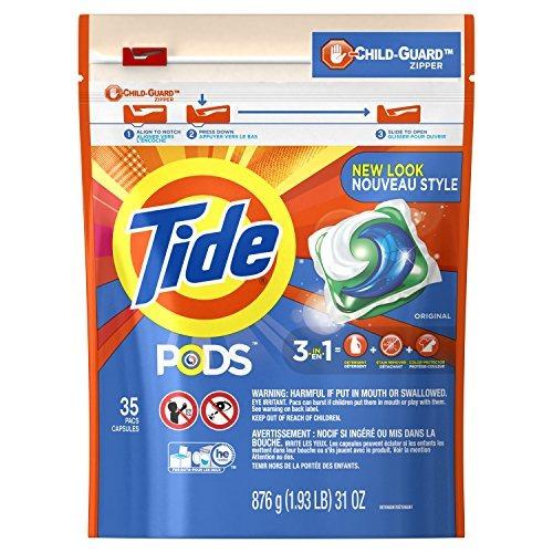 Tide Pods Detergente Para Ropa, Pacs, Original, 35 Count