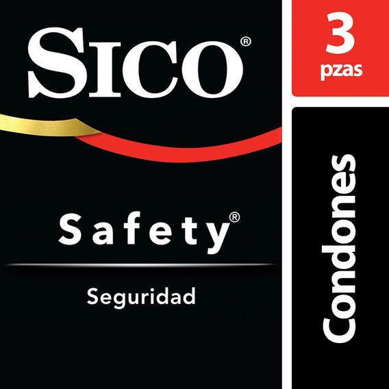 Sico Safety Condones De Látex 3 Piezas