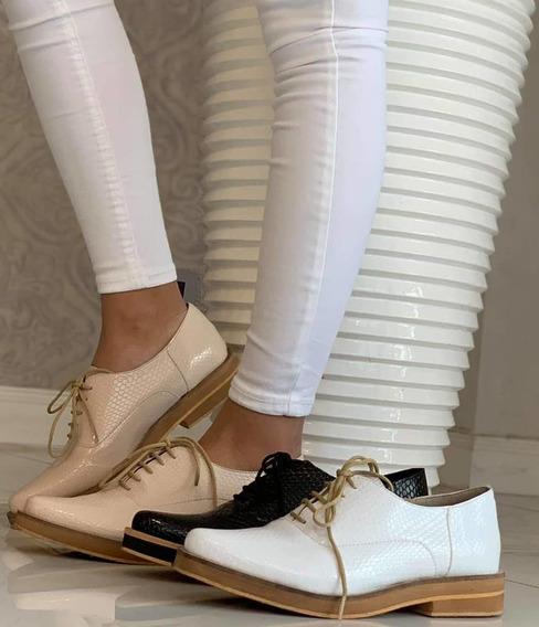 Zapatos Acordonados Charol Calzado De Mujer