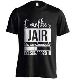 Camiseta Bolsonaro 100% Algodão