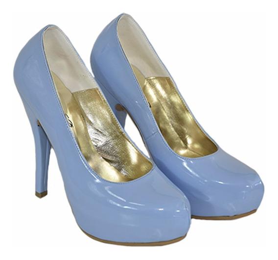 Stilletto De Charol Taco Fino Especial Novia De Shoes Bayres