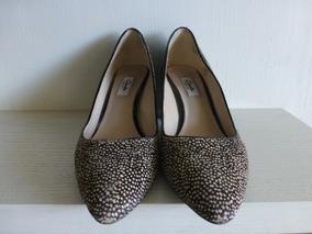 Zapato Mujer Marca Clarks Piel De Vaca Taco 7cm Charol N°39