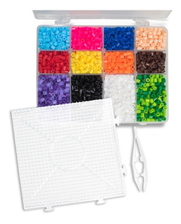 Paquete Básico 2 Con 4,400pz Y Accesorios Perler Hama Beads