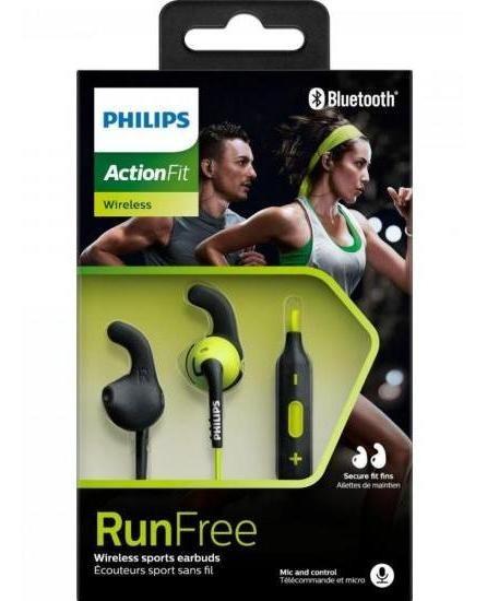 Fone Philips Esportivo Bluetooth Wireless Shq6500cl/00 Preto/verde Para Exercícios Físicos - Nf - Envio Em Até 24hrs*