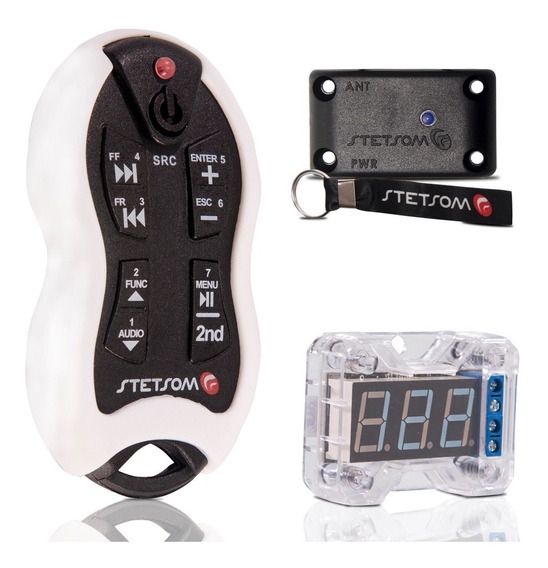 Controle Longa Distancia Stetsom Branco Sx + Voltímetro Vex