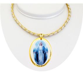Medalha Nossa Senhora Das Graças Ouro Peq E Corrente