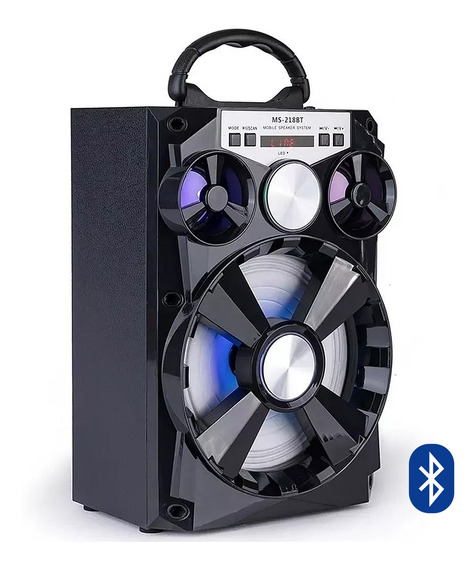 Caixa Caixinha Som Amplificada Bluetooth Mp3 Usb Cartao E83