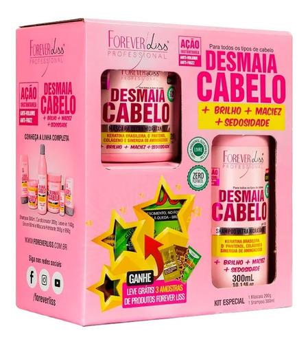 Kit Especial Desmaia Cabelo Forever Liss Com Brinde