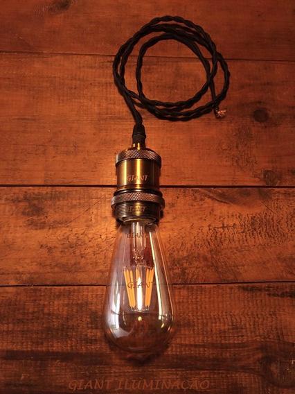 Kit 8 Lâmpada Vintage Led Edison 8w Biv St64 Decor Casa