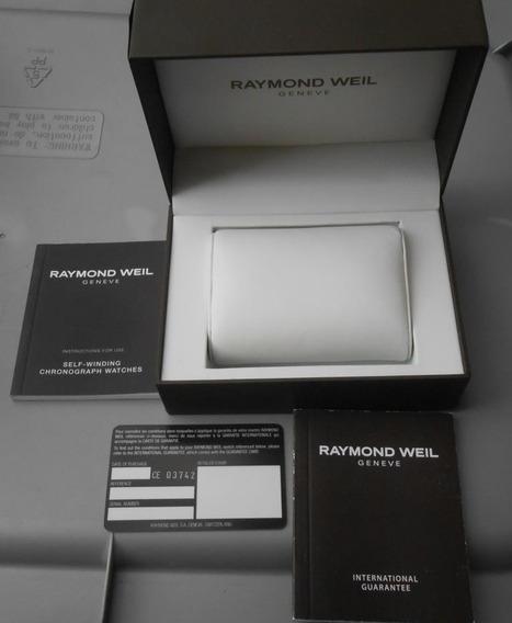 Estuche Caja Reloj Raymond Weil Con Manual Tarjeta Sin Usar