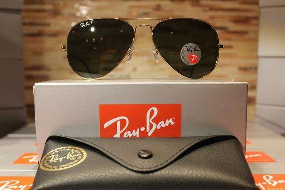 Óculos De Sol Ray Ban Rb3025 Aviador Polarizado Oferta