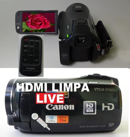 Filmadora Canon Vixia Hf-m41 Entrada Microfone Hdmi Limpa