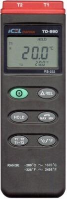 Termometro Digital 2 Canais Com Termopar Tipo K E Saida Rs-2