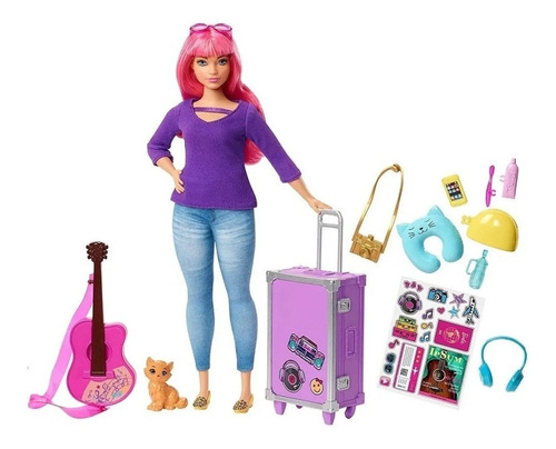 Barbie Daisy Viajera Dreamhouse Adventures Mattel Fwv26