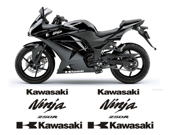 Adesivos Moto Kawasaki Ninja 250r Rabeta Carenagem Tanque