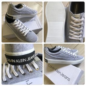Tênis Calvin Klein Original Cinza Mesc Em Moletom Tamanho 42