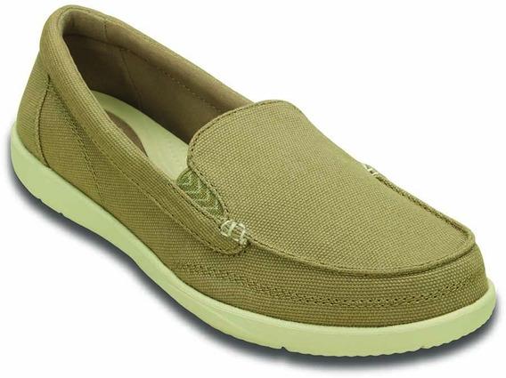 Zapatos Crocs Originales Wallu Il Canvas Loafer Mujer