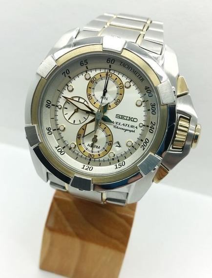 Relógio Seiko Velatura 7t62-0hd0 Usado Revisado