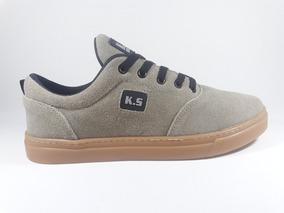 Ks Boots Couro Masculino Tenis Skatista Moderno Promoção