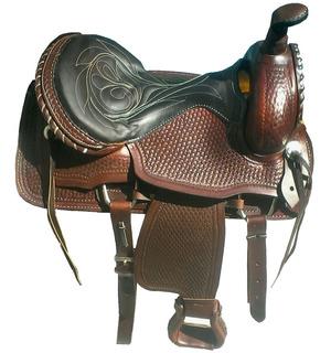 Montura Silla Montar Estilo Texano Fuste 15o16 C/accesorios