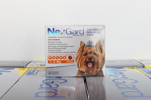 Pastillas Antipulgas Y Antigarrapatas Nexgard 2-4 Kg