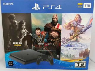 Playstation 4 Slim 1tb Con 3 Juegos Somos Tienda Fisica