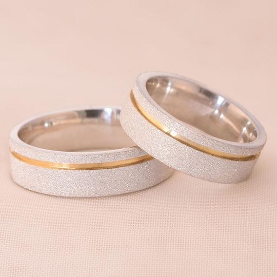 Alianças Prata Diamantadas Loveways