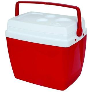 Caixa Térmica 34 Litros Azul Ou Vermelha Com Alça Mor!