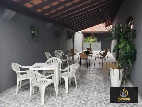 Casa Com 3 Dormitórios À Venda, 130 M² Por R$ 280.000,00 - Bopiranga - Itanhaém/sp - Ca1387