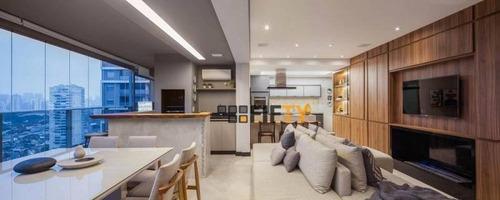 Apartamento Com 2 Dormitórios À Venda, 128 M² - Brooklin Paulista - São Paulo/sp - Ap41468