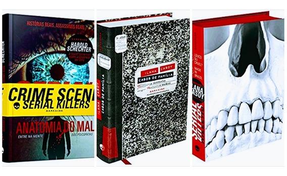 Livro Casos De Família + Serial Killers + Arquivos Serial