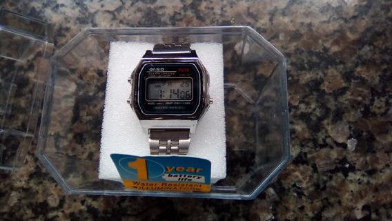 Relógio Aço Casio Mini Prata Digital Unissex