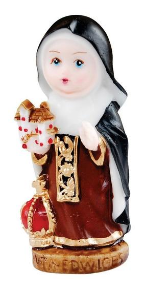 30 Imagem Santa Edwiges Infantil Em Resina 8cm