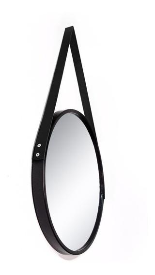 Espelho Redondo Decorativo Com Alça 33 Cm Diversas Cores