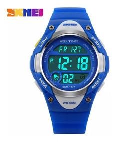 Relógio Infantil Digital Skmei 1077 Azul Ou Rosa