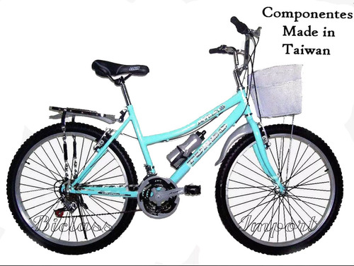 Bicicleta De Dama Canasta Parrilla  18v Componentes Taiwan
